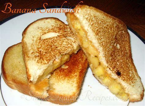 Peanut Butter Banana Sandwich  Simple Indian Recipes