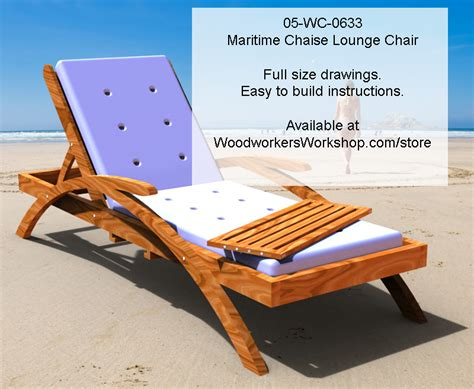 maritime chaise lounge chair woodworking plan