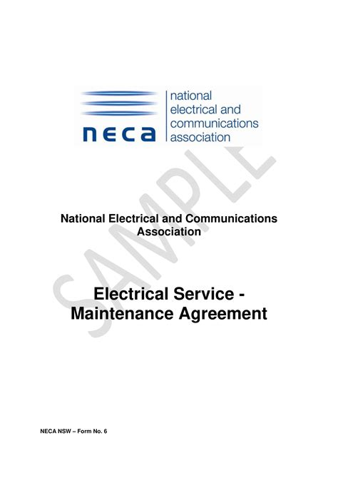 electrical service maintenance agreement contract template