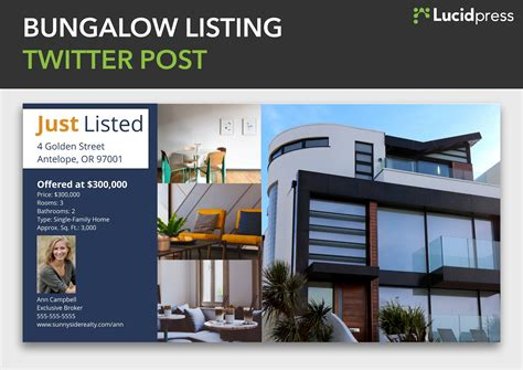 twitter template for posts how to build a social media caign for real estate