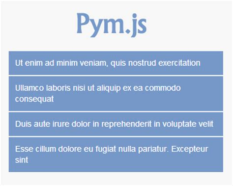 jquery mobile iframe pym js embed iframes responsively jquery plugins