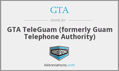What Is The Abbreviation For Gta Teleguam (formerly Guam