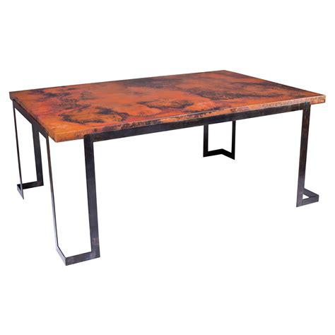copper top dining table care beautiful copper top dining table on table with wrought