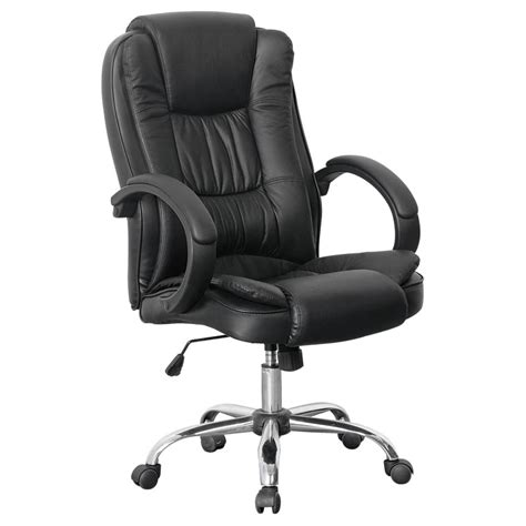 santana black high back executive office chair leather