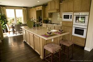 pictures of kitchens traditional light wood kitchen With light and dark colors for kitchen cabinets colors