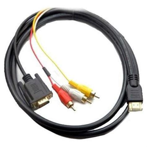 Harga Converter Vga To Rca harga jual 5 ft hdmi to vga 3 rca converter adapter cable