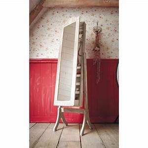 Psyché Maison Du Monde : miroir psych porte bijoux en bois de paulownia blanchi h ~ Premium-room.com Idées de Décoration