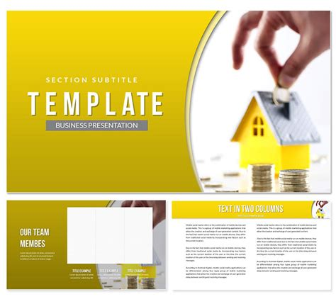 save money   house powerpoint template