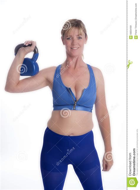 exercising kettle bell using woman preview