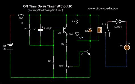 Delay Timer Circuit Diagram With Relay Power