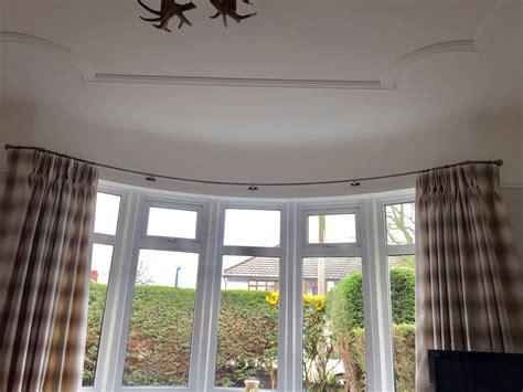 wrought iron bay window curtain poles   p harrison