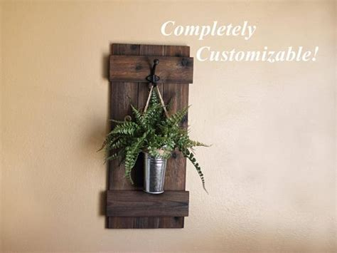 Rustic Wall Decor Plant Hanger Wooden Planter Wall Sconce