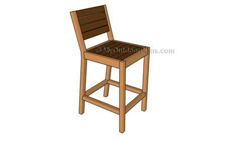 build  bar stool myoutdoorplans  woodworking plans  projects diy shed