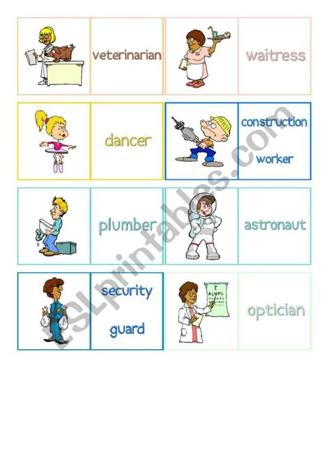 jobs  memory cards    esl worksheet  abraham