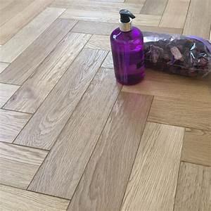 herringbone parquet 18mm natural oak brushed matt lacquer With parquet 18mm