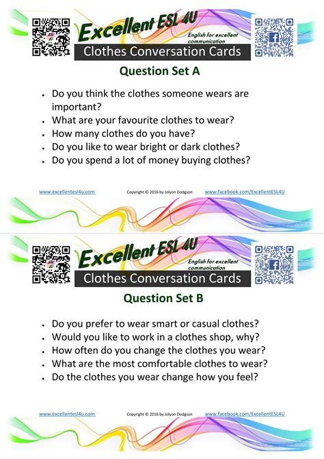 Esl Clothes Conversation