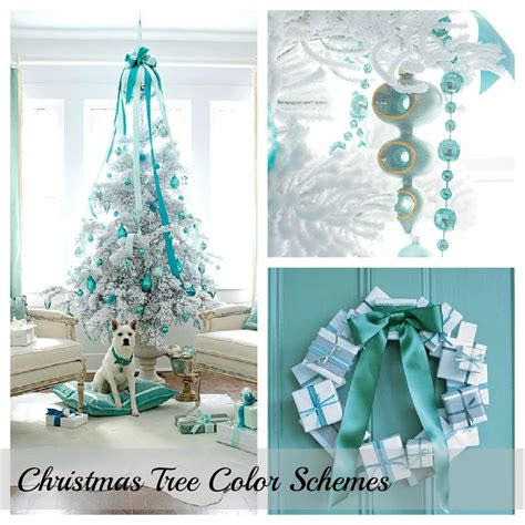 tree color and decor schemes setting for four