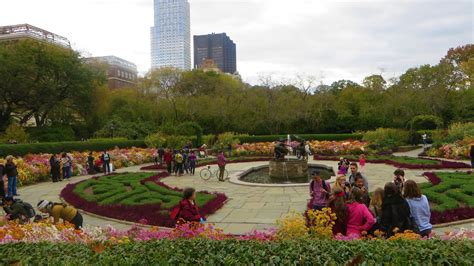 Central Park Garden by Manhattan Nyc Conservatory Garden In Fall Central Park