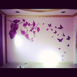 bedroom beautiful creative wall painting ideas for paint With a beautiful painting on wall
