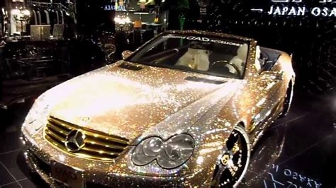 gold glitter car 2012 settembre this is japan osaka giappone japan