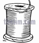 Drawing Spool Sewing Thread Drawings Timtim Bw3 Hobby Coloring Tim sketch template