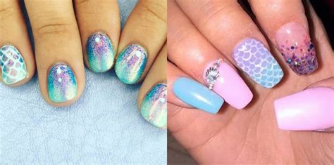 mermaid nail art       thought