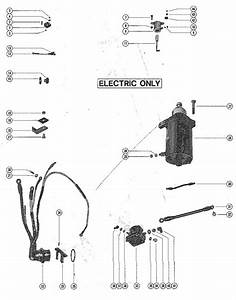 Mercury Marine Model 402 40 Hp Starter Motor  Rectifier  U0026 Wiring Harness Parts