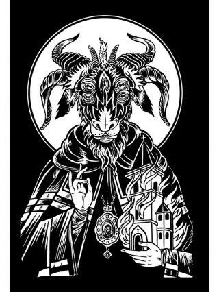 """Saint Goat"" Print by Mindzai Creative (Black) in 2020 