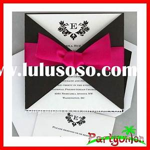 handmade wedding invitation card with ribbon for sale With handmade wedding invitations prices