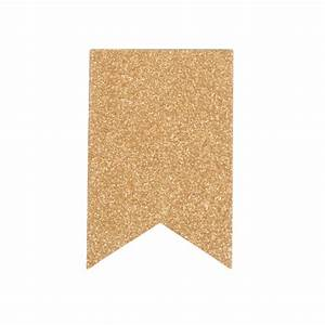 Glitter Gold Blank Fishtail Banners: 3 x 4 in (10 pc ...