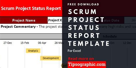 scrum project status report template  excel