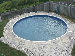 Kubikmeter Berechnen Pool Rund : traditional style backyard ideas with cheap round inground pool and natural flagstone pool ~ Themetempest.com Abrechnung
