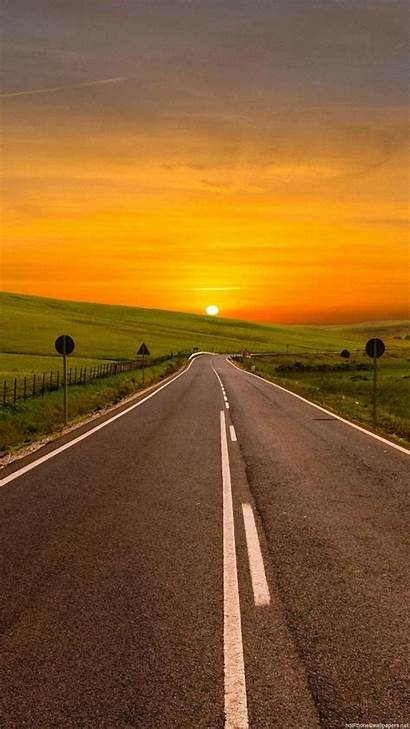 Road Wallpapers Sunset Iphone Vertical Pixel Oneplus