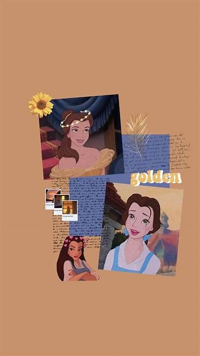 Aesthetic Princess Disney Belle Iphone Cartoon Wallpapers