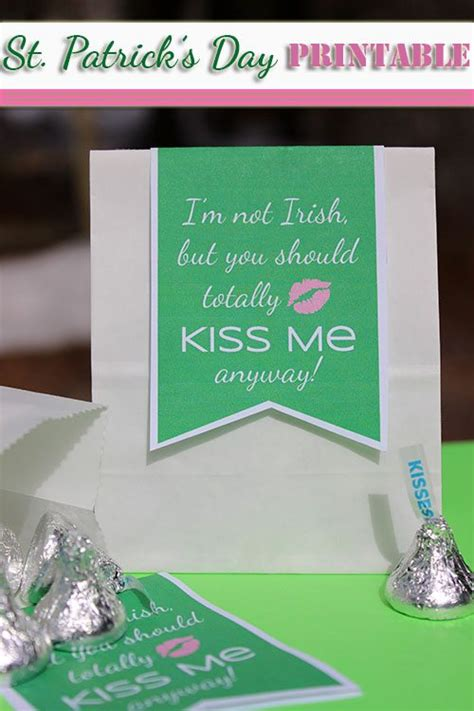 printable st patricks day gift tag im  irish