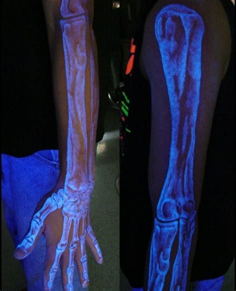 invisible ink black light glow in the dark tattoos designs ideas and meaning