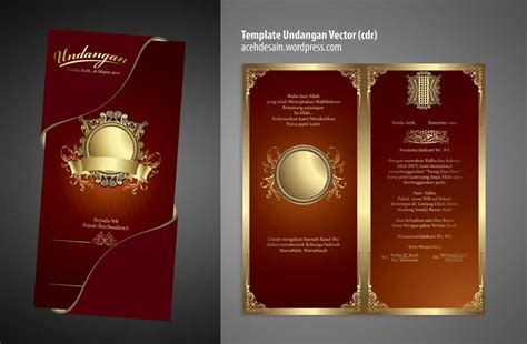 desain undangan elegan cdr