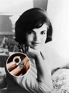 the 20 most fabulous celebrity engagement rings of all With jackie onassis wedding ring