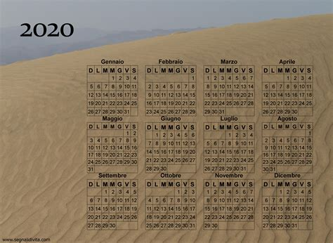 calendario fotografico da stampare del