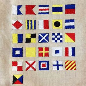 nautical flag alphabet letter symbols embroidery designs in 2 With nautical flag letters