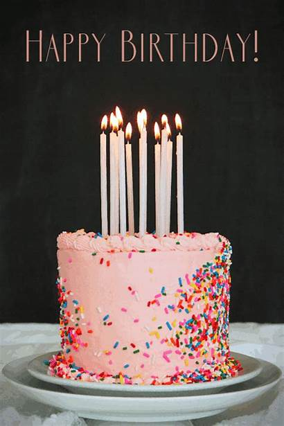 Birthday Happy Cake Candles Animated Gifs Pink