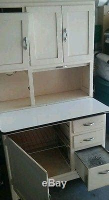 vintage kitchen hoosier cabinet  flour sifter metal