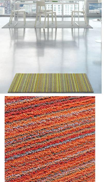 chilewich shag skinny stripe indooroutdoor utility mat