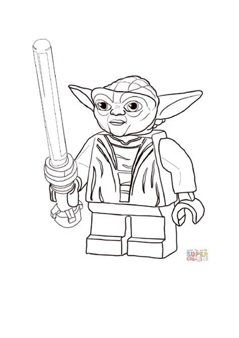 lego star wars master yoda coloring page printable