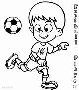 Football Coloring Pages Player Players Soccer Sports Printable Playing Drawing Drawings Cool2bkids Nfl Sheets Colouring Subject Ball Neymar Jersey Clipartmag sketch template