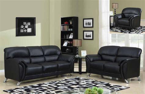 Stylish 3pc Sofa Set On Chrome Legs In Black Or Grey With Black Nashville-davidson Tennessee Gf9103