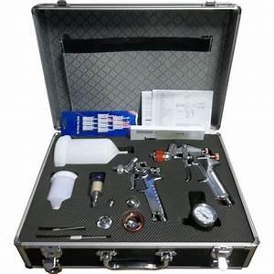 Pistolet Peinture Gravité Hvlp : coffret aluminium 2 pistolets de peinture hvlp ~ Premium-room.com Idées de Décoration