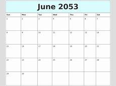 April 2053 Monthly Calendar