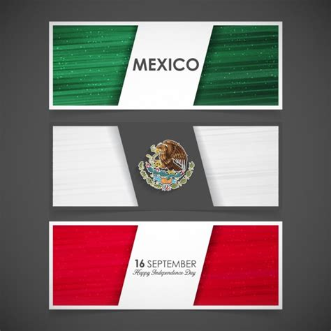 marcos para dia de la bandera alta calidad tres banners con la bandera de m 233 xico