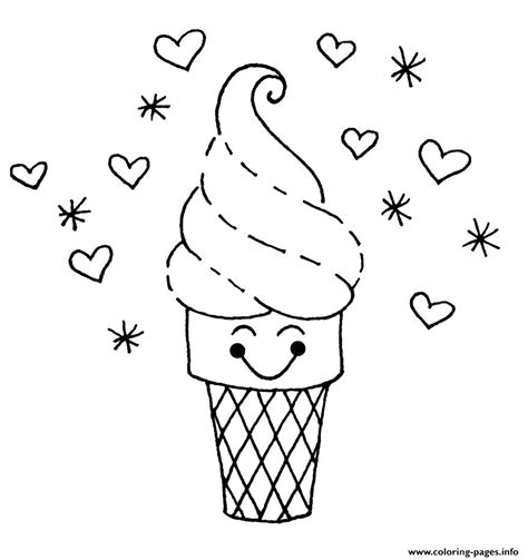 cute ice cream sbba coloring pages printable